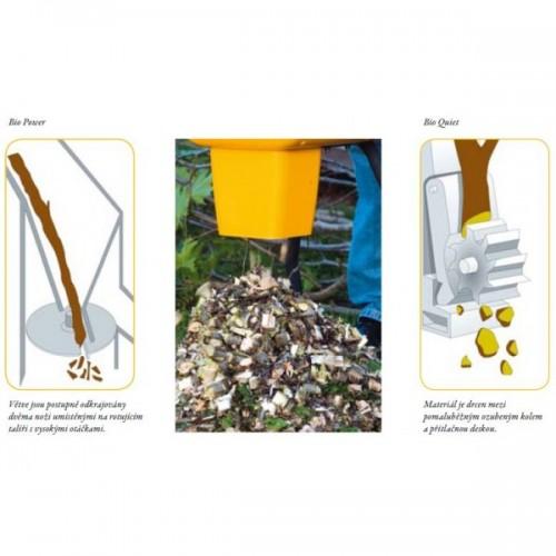 Stiga Bio Silent 2500 elektrický drtič větví a zahradního odpadu